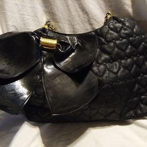 Betsey Johnson Large Bow-Licious Quilted Tote